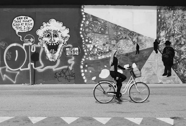 Girl-on-bike by Ohlee