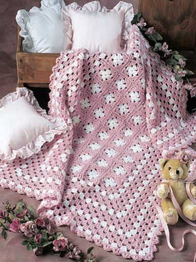 pink and white    Simply Simple Afghan