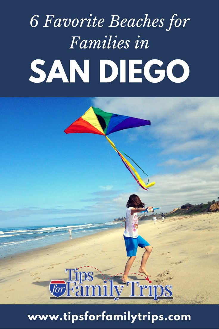 The 6 BEST beaches in San Diego, California for families - from those who have been there.  | tipsforfamilytrips.com
