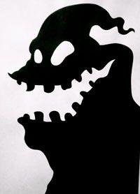 Nightmare Before Christmas Silhouette | Oogie Boogie man silhouette