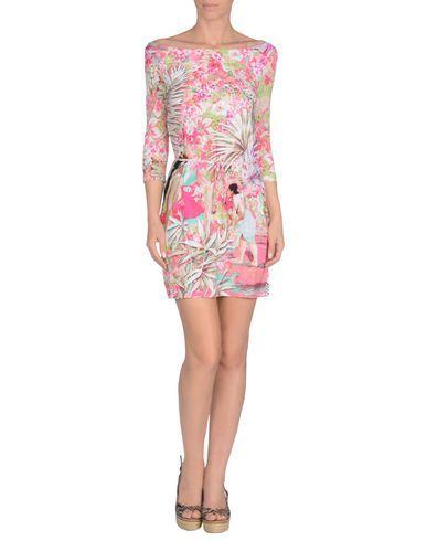 ¡Cómpralo ya!. BLUMARINE BEACHWEAR Vestido de playa mujer. tejido sintético, cierre con lazos, logotipo, estampado floral , vestidoinformal, casual, informales, informal, day, kleidcasual, vestidoinformal, robeinformelle, vestitoinformale, día. Vestido informal  de mujer color violeta rojizo de BLUMARINE BEACHWEAR.