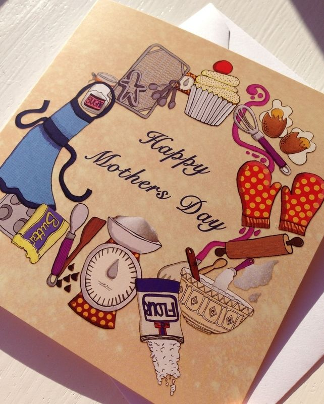 Mothers day Baking card  £2.00