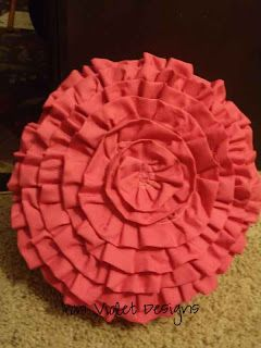 Iron Violet Designs: Flower pillow