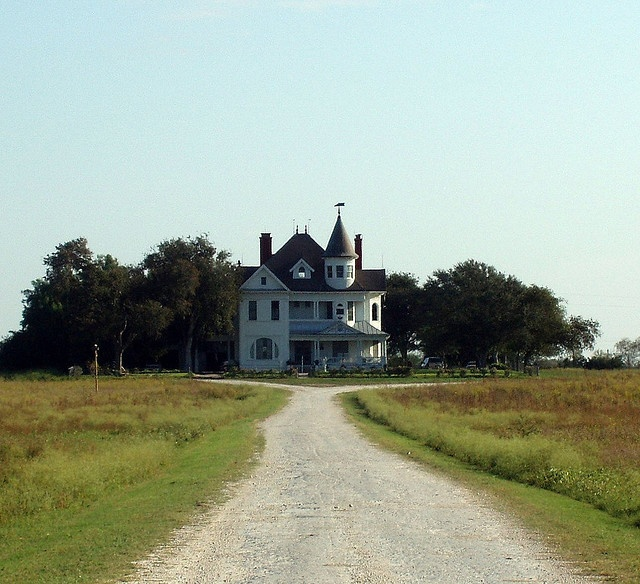 Beeville Texas...i always wondered what that house looked like...can only see the roof from the highway