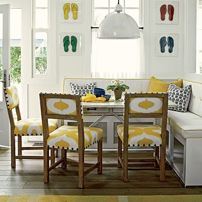 BREAKFAST BANQUETTE WITH COOL CHAIRS