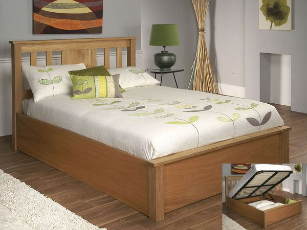 £711.97 Limelight Terran Super King Size Oak Ottoman Bed Frame