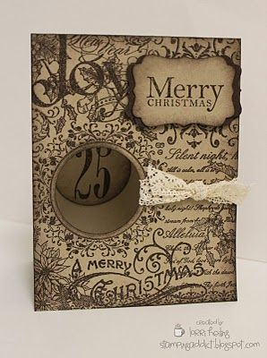 By Lorri Heiling: Christmas Cards Crafts, Cardmaking Tags, Beautiful Cards, Cardmaking Papercraft, Cards Christmas, Cards Tags, Holidays Cards, Octagon Cards, Cards Xmas