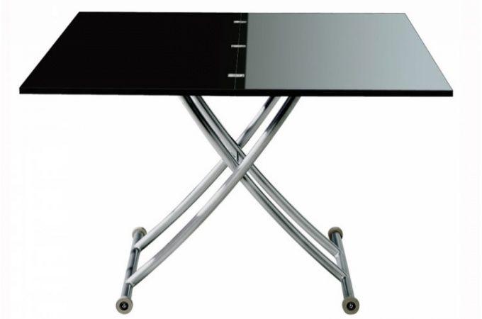300e Table Basse Relevable à Rallonge Noir Laqué Ella , deco design