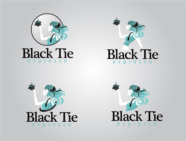logo for black tie espresso