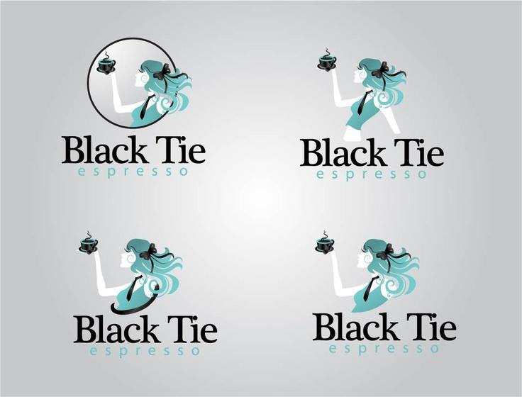 logo for black tie espresso