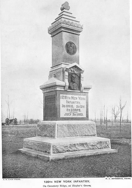126th's Monument at Gettysburg