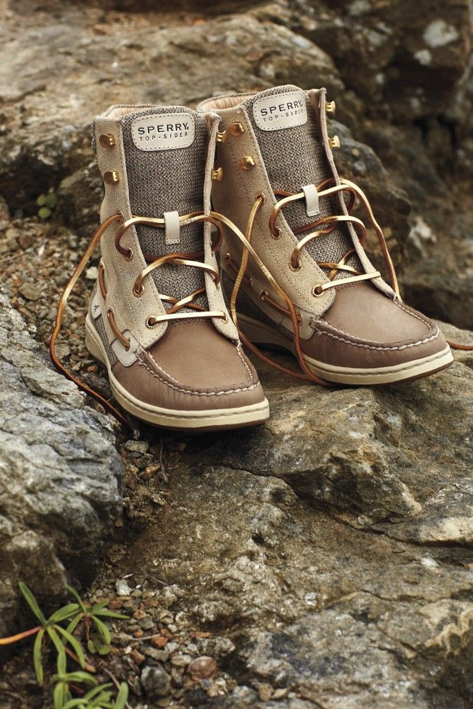 A twist on the classic Sperry boat shoe that covers up ankles in cooler weather