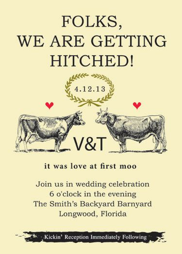 6. Great inspiration, works well with the barn location. Great graphics, but wording could use a little work. Got to love Etsy! #modcloth #wedding