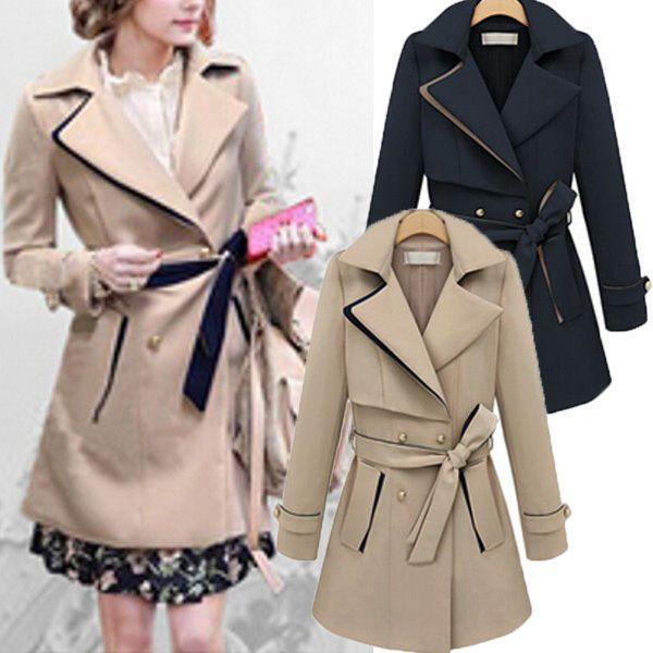 Women Ladies Lapel Coat Long Winter Parka Coats Trench Outwear Blazer Jacket Top #Unbranded #BasicCoat