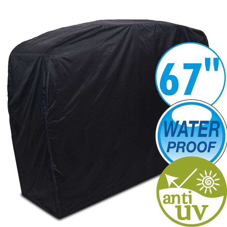 67 Waterproof Dustproof Anti UV Gas Grill Cover BBQ Canopy OutdoorHeavy Duty Cover, Silver