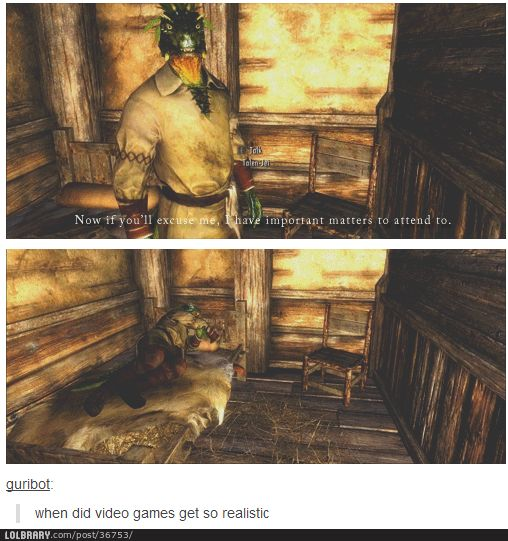 Unprecedented realism in skyrim the only realistic thing skyrim logic