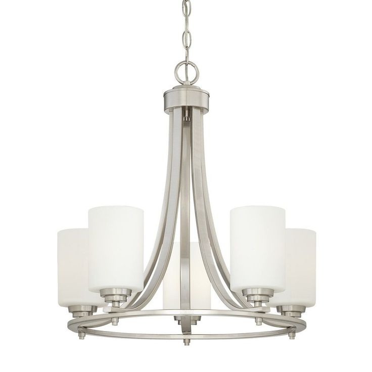 Buy The Millennium Lighting Satin Nickel Direct Shop For Bristo 5 Light 1 Tier Chandelier And Save