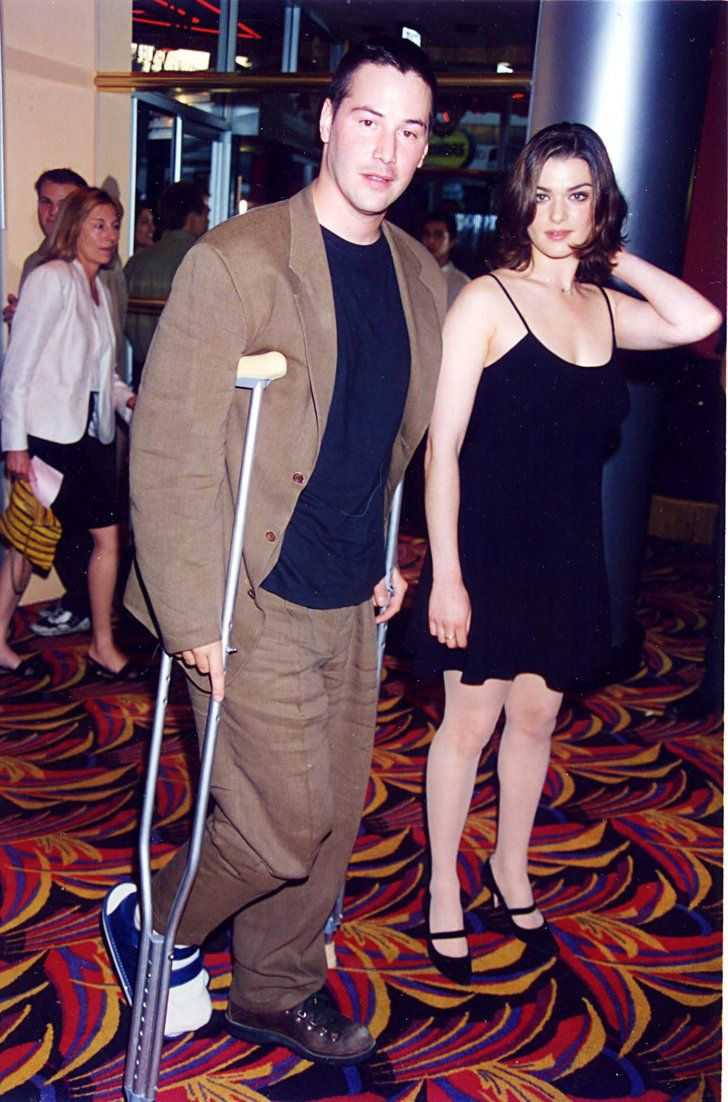 Pin for Later: You Won't Stop Smiling at These Stars' Early Red Carpet Moments Rachel Weisz A young Rachel bought her Chain Reaction costar Keanu Reeves as her date to the 1996 premiere of Stealing Beauty.