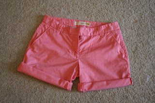 la vie DIY: J.Crew Pants to Shorts Refashion (no sew option!)