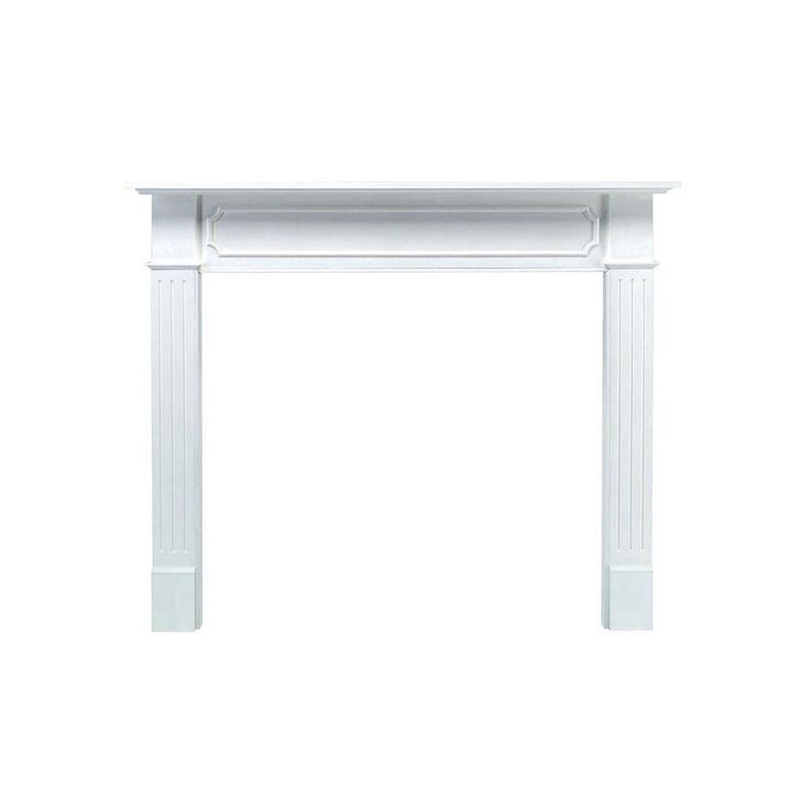 The Berkley 62 in. x 52 in. MDF White Full Surround Mantel-520-48 - The Home Depot