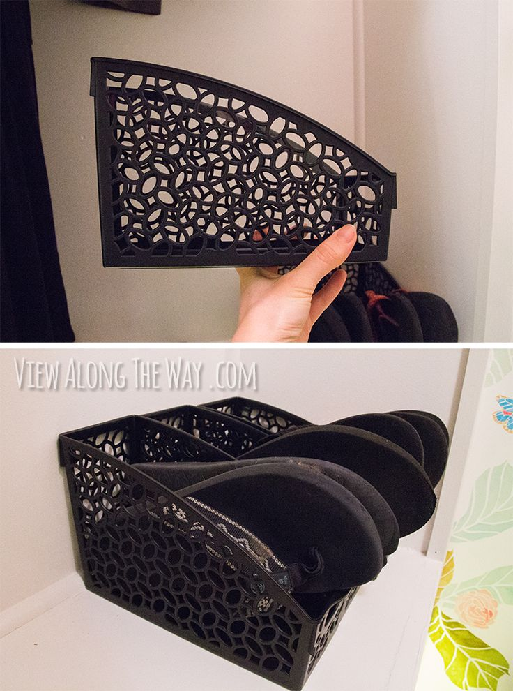 Store flip flops in a plastic folder organizer -- and other creative closet storage ideas!