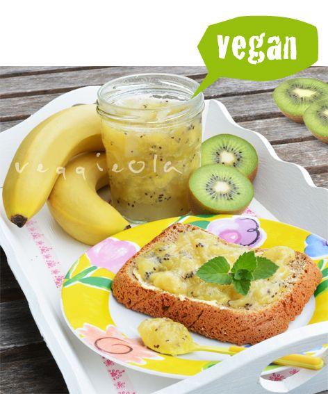 veggieola: Dżem z kiwi i bananów – pyszny