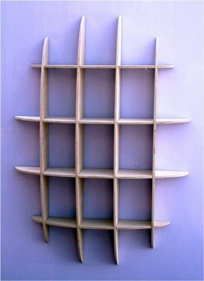 DVD / CD storage rack wall mounted unit retro style wooden shelving 33DN