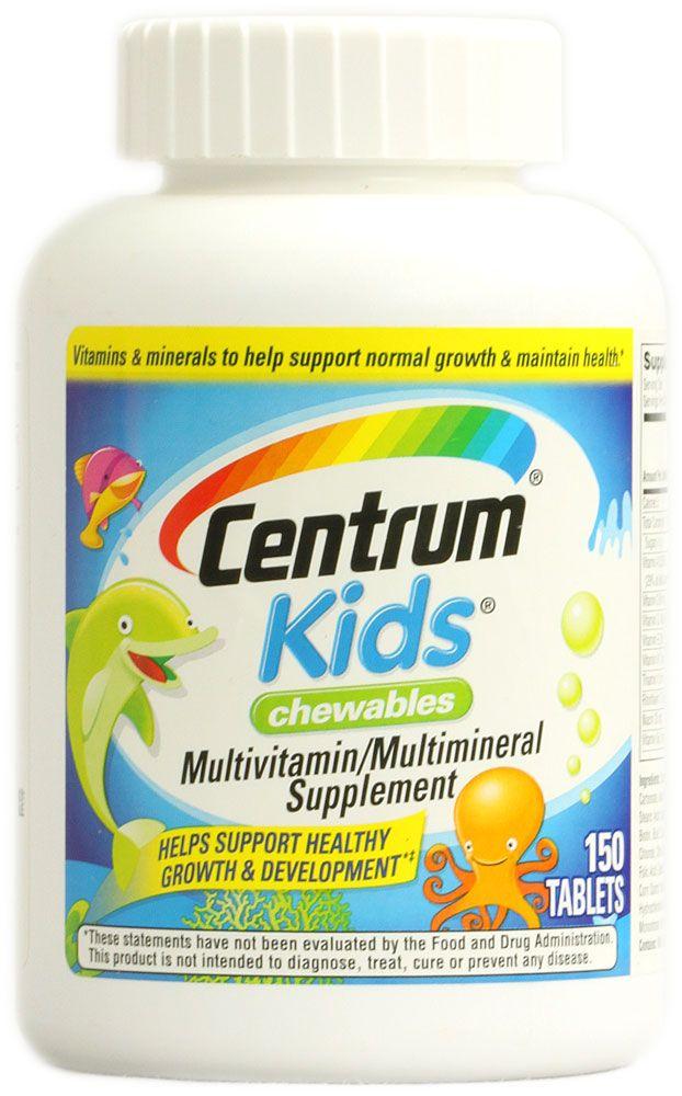 Centrum Kids® Chewables Multivitamin-Multimineral Supplement -- 150 Tablets