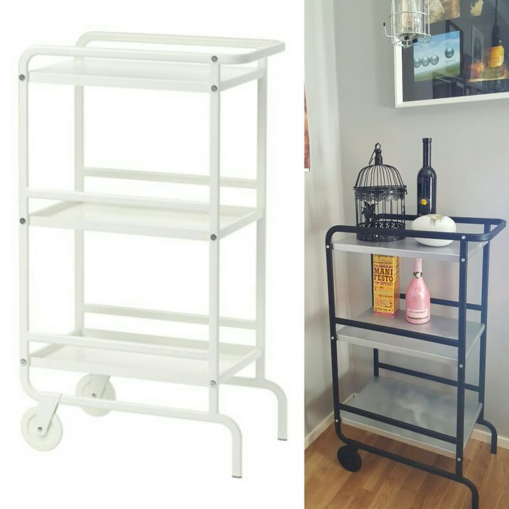 ikea sunnersta hack bar cart ikeahack home idea. Black Bedroom Furniture Sets. Home Design Ideas