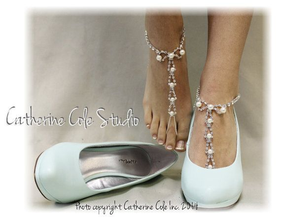 PARISIAN pearls rhinestones elite Barefoot by CatherineColeStudio,