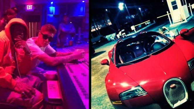 Justin Bieber a primit cadou o maşină Bugatti