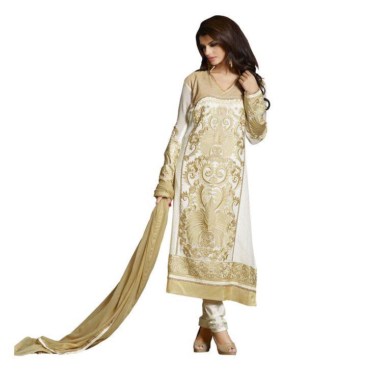 New Indian Bollywood Designer Straight Pakistani Shalwar Kameez Salwar Georgette #Unbranded #IndianSalwarSuit