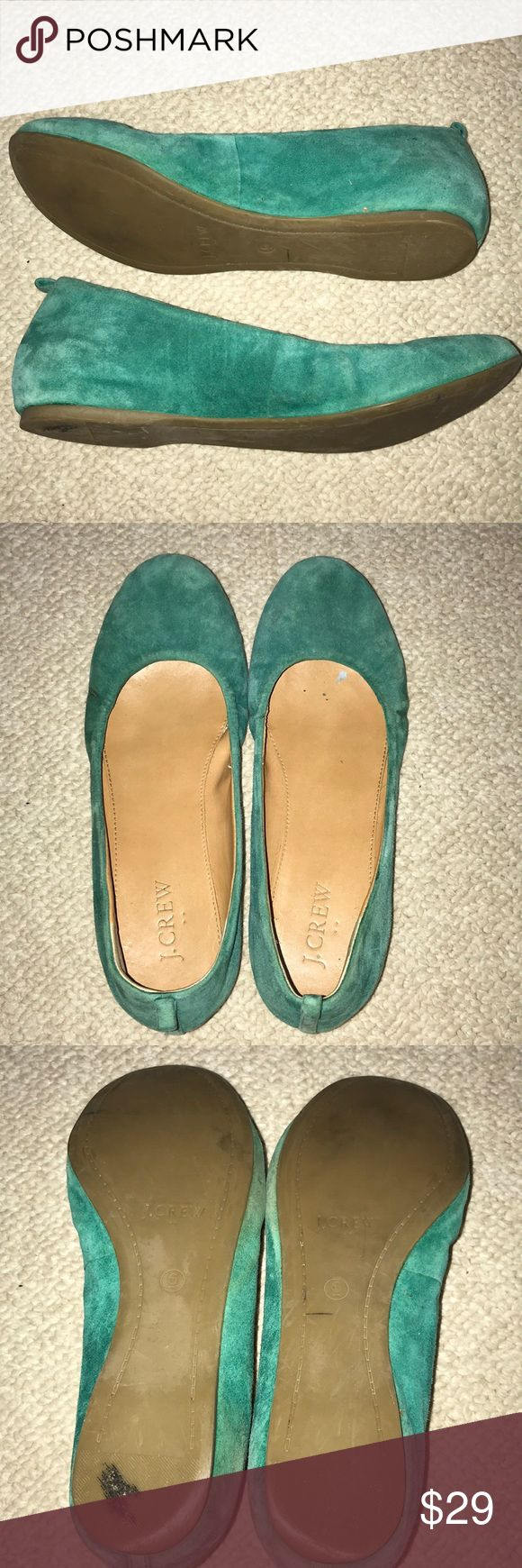 J Crew flats Turquoise/Green color Suede material  Purchased from J Crew outlet Size 6 No box J. Crew Shoes Flats & Loafers
