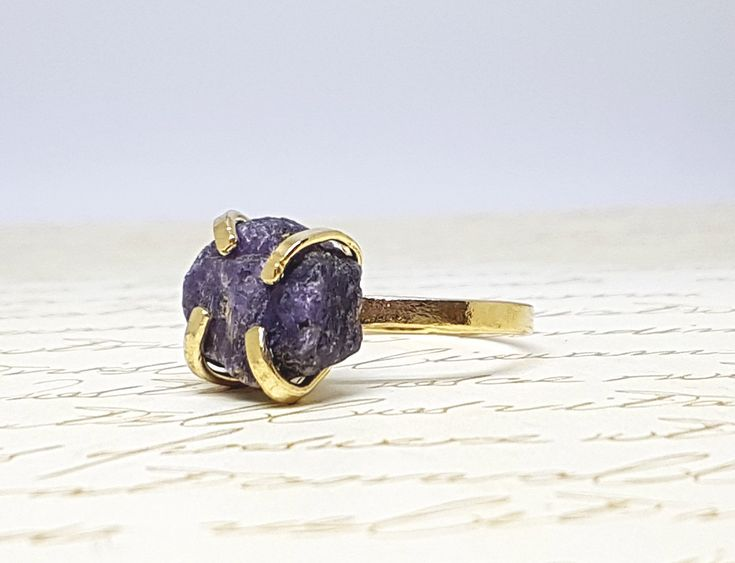 Excited to share the latest addition to my #etsy shop: Raw Stone Ring, Raw Sapphire Ring, Sapphire Ring, Rough Gold Sapphire Ring, September Birthstone Ring, Sapphire Ring Gold, Gemstone Ring http://etsy.me/2D2pN24 #jewelry #ring #blue #gold #yes #girls #sapphire #raws