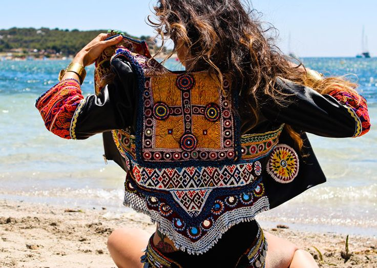 Embellished boho jacket. Statement piece for the cooler months.
