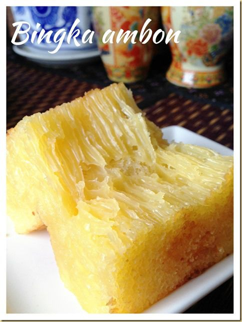 Bingka ambon/ Indonesian Honeycomb cake