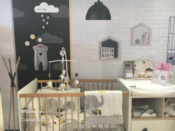 Lit et table langer collectio oslo sauthon baby room - Lit et table a langer ...