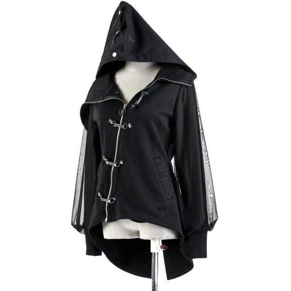 Dragonfly Asymmetrical Hoodie by Punk Rave ($53) ❤ liked on Polyvore featuring tops, hoodies, gothic hoodie, punk hoodie, asymmetrical hoodie, dragonfly top and hooded pullover
