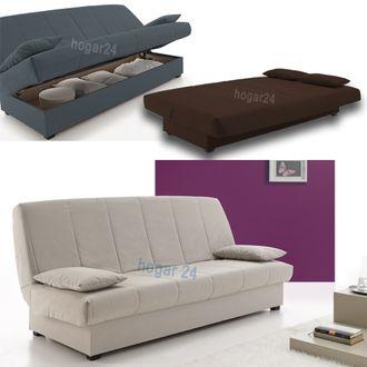 Sofas sofa cama clic clac desenfundable con arcón de almacenaje 0