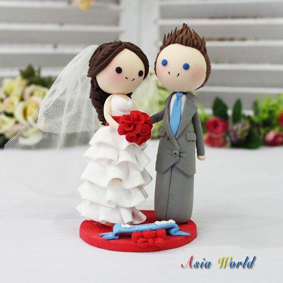 red wedding cake toppers wedding cake topper clay mini in beautiful white 19179