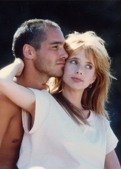 Jean-Marc Barr and Rosanna Arquette in The Big Blue. LOVE LOVE THIS FILM !!!!