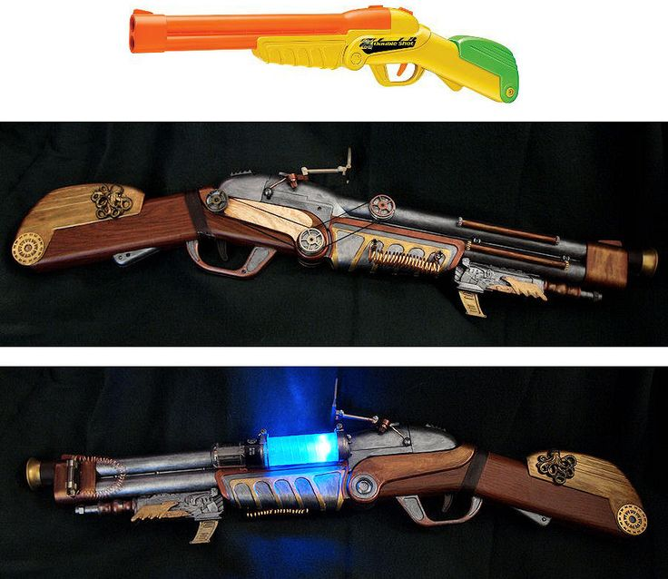 Buzz Bee Double Shot Steampunk Mod by *ajldesign on deviantART