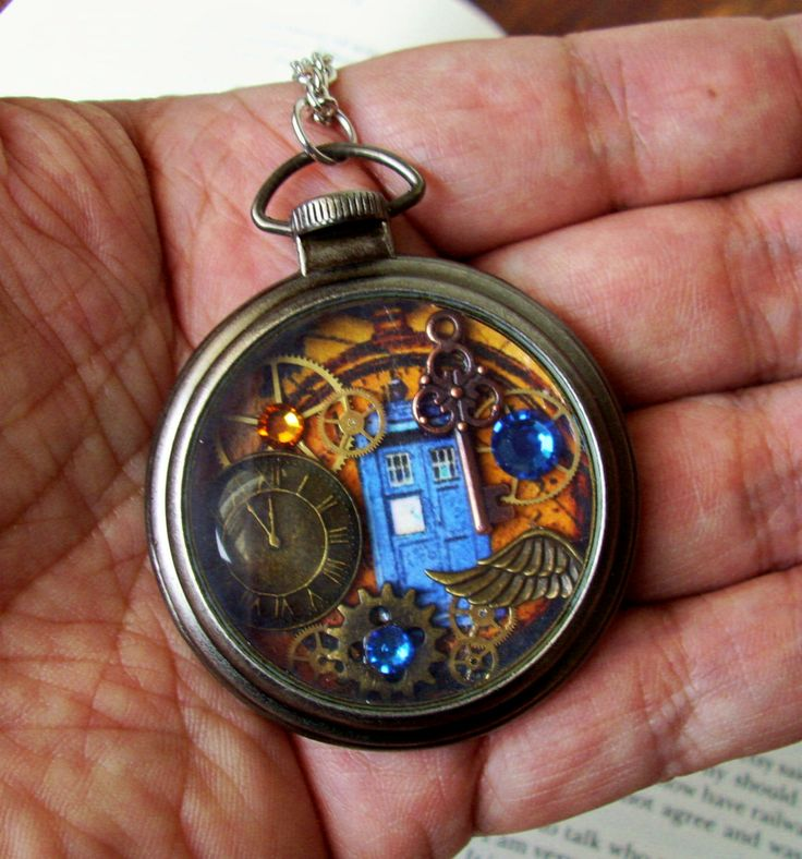 Steampunk Art Pocket Watch Piece N201  Doctor by DesignsByFriston, $38.00