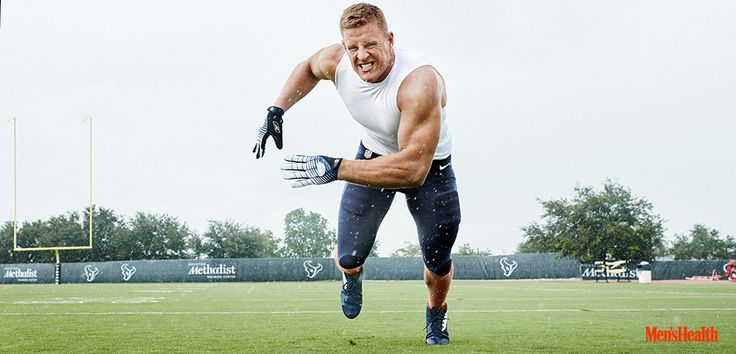 """""""Today's like eating cake,"""" J.J. Watt told the Men's Health crew at the end of his workout on July 8, 2015. """"You should've seen me yesterday."""""""