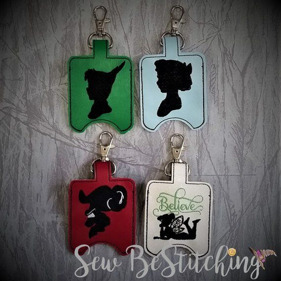 Neverland Hand Sanitizer Holders Peter Pan Hook Wendy Tinkerbell