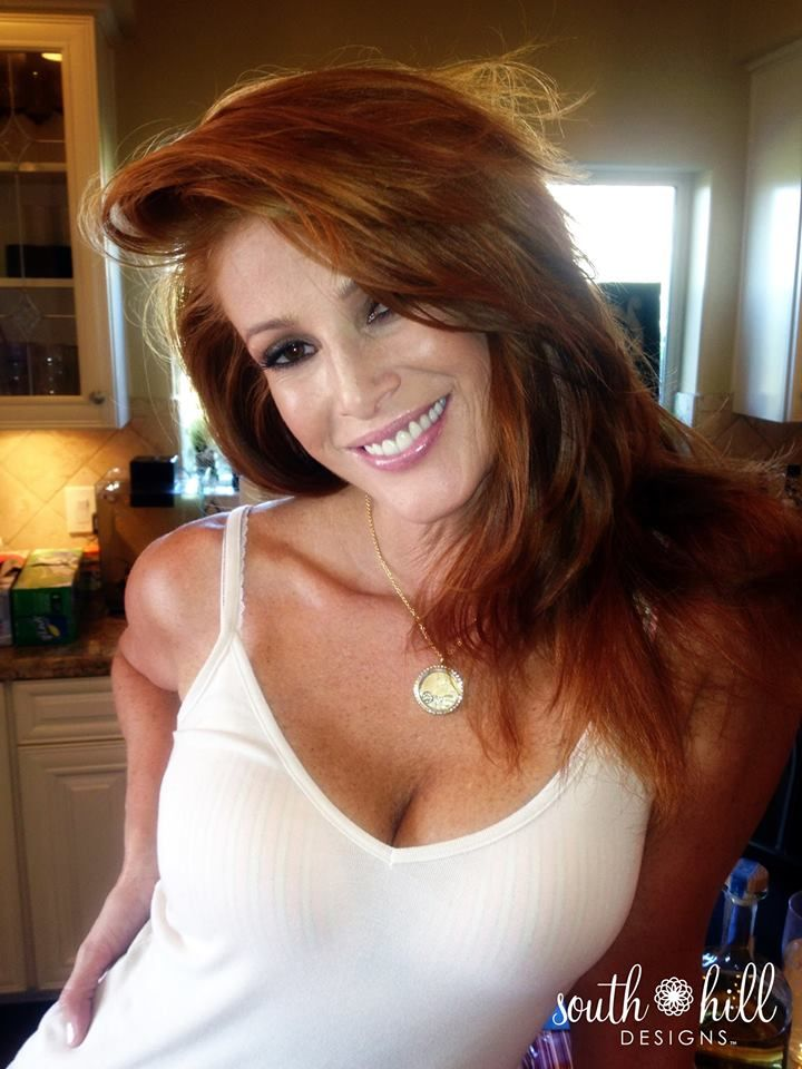 Actress and Super Model Angie Everhart wearing South Hill Designs by Melissa Dare!  www.southhilldesigns.com/melissadare #southhilldesigns #charms #lockets #jewelry #love #fashion #celebrities #models #actress #unique #gifts #us #uk #canada #mexico #joinmyteam #workfromhome #opportunity