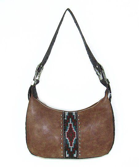 Savana Tan Geometric Shoulder Bag   zulily