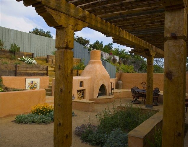 Southwestern Outdoor Fireplace Southwestern Landscaping Total Outdoors Landscaping Carlsbad, CA