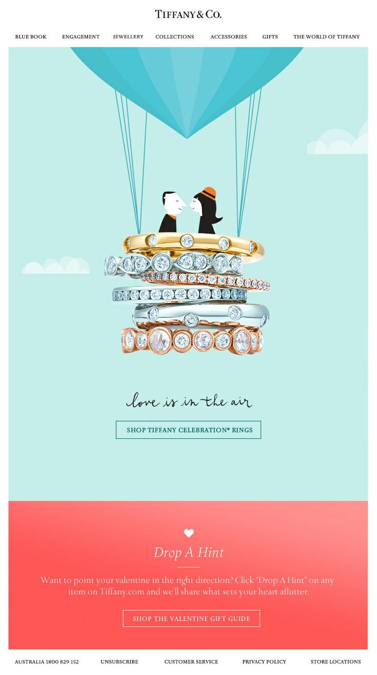 Beautiful imagery from Tiffany & Co #emailmarketing #email #digitalmarketing
