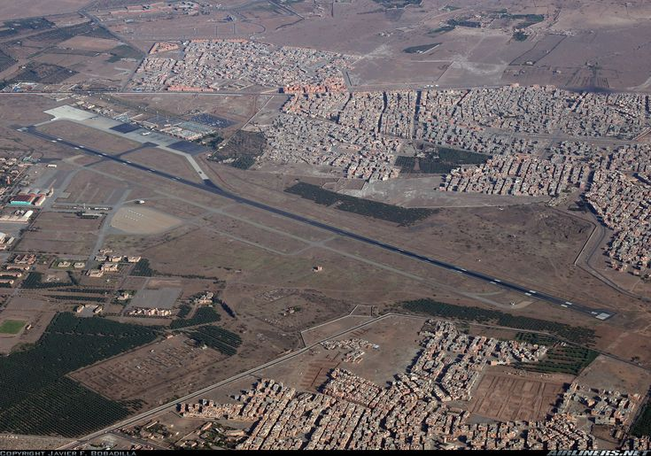 Menara Airport, one of the largest in Morocco.